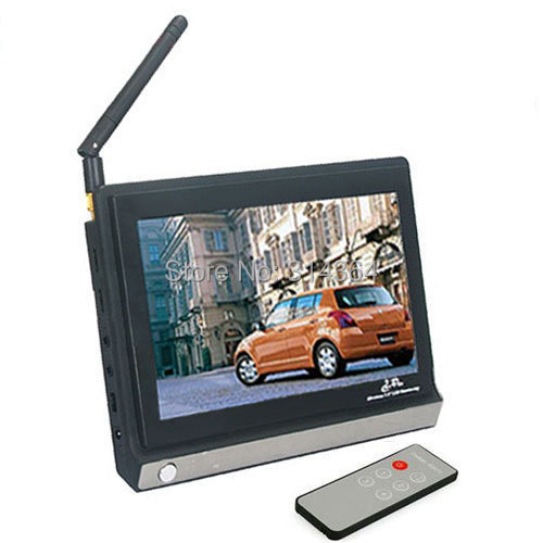 2.4G Wireless LCD Monitor with 7.0 Inch Display (480*234 Resolution) and Remote Control wireless 7inch lcd monitor