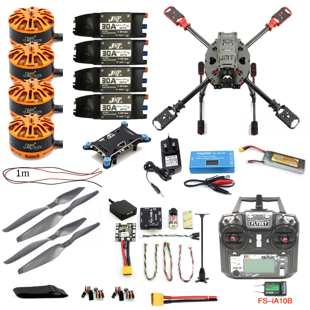 Full Set DIY 2.4GHz 4-Aixs Aircraft RC Copter 630mm Frame Kit Radiolink MINI PIX+GPS FS-i6X Brushless Motor ESC Altitude Hold rtf full kit hmf y600 tricopter 3 axis copter hexacopter apm2 8 gps drone with motor esc at10 tx