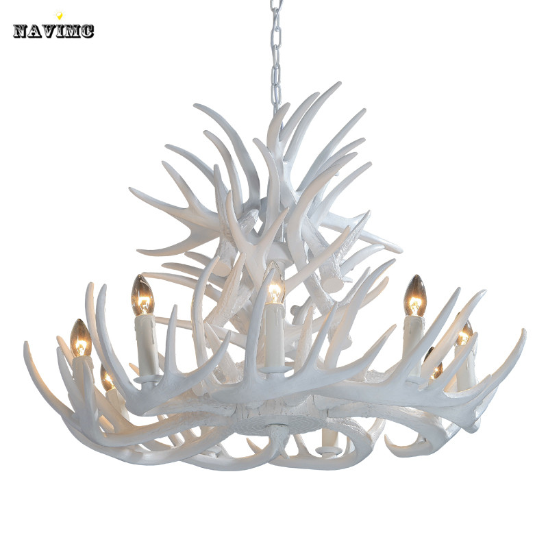 Rustic modern large white deer antler chandeliers lighting lamp with rustic modern large white deer antler chandeliers lighting lamp with tree branches for dining room restaurant 468912 lights in chandeliers from lights mozeypictures Choice Image