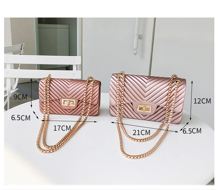 Image 5 - new Famous Brand Leather Messenger Bags Luxury Shoulder Bag Quilted Designer Handbags Women Bag Vintage Female Chain Jelly pack-in Top-Handle Bags from Luggage & Bags