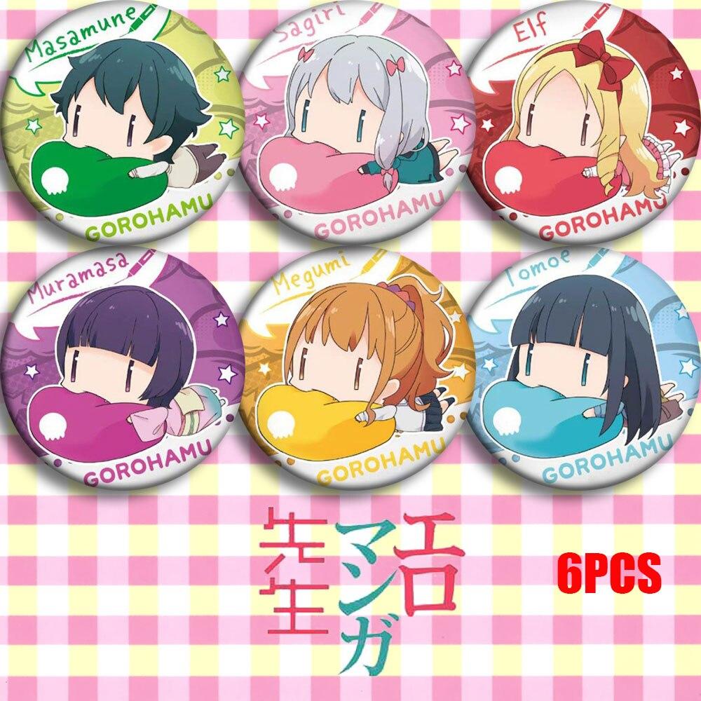 Japan Anime Eromanga Sensei Sagiri Izumi Masamune Izumi Cosplay Bedge Cartoon Collect Bags Badges For Backpack Button Brooch Pin