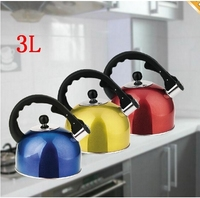 Wholesale 3L Stainless Steel Whistling Tea Kettle Whistling Kettle For Gas Stove