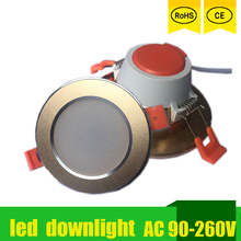 LED Lights Spot Led Down Light Focos Techo 220v 230v 110v 18w 15w-3w Round Gold For Indoor Aisle Ceiling