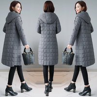 LADIES WINTER COAT HOODED PARKA PADDED WOMENS QUILTED JACKET WINTER