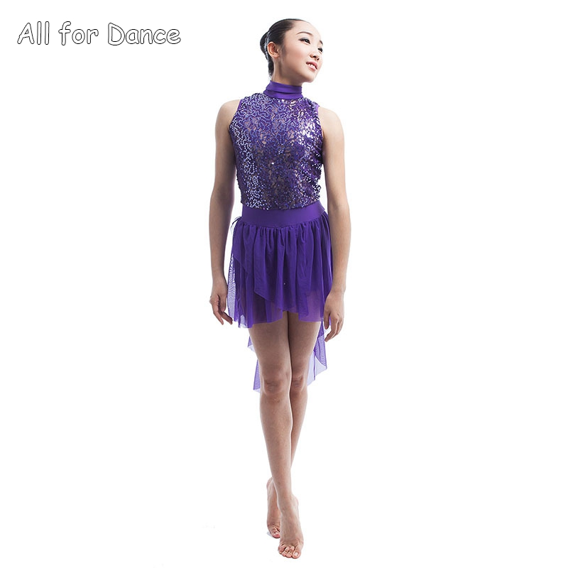 Purple Color Girls Show Dance Costume Women Ballerina Dance Costume Child & Adult Ballet/Contemporary/Lyrical Dress image