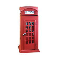 Creative Resin Telephone Booth Model Home Decoration Accessories Crafts Birthday Hotel Figurine Miniatures Gift