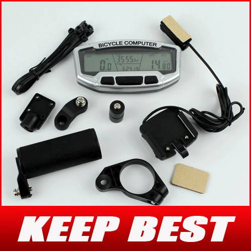 Free Shipping Digital LCD Backlight Bicycle Computer Odometer Bike Meter Speedometer SD558A Clock Stopwatch