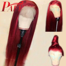 PAFF 13x6 Glueless Lace Human Hair Front Wig Straight Hair Malaysia Remy Pre Plucked Lace Front Wig With Baby Hair Side Part siv hair men s straight side bang human hair wig