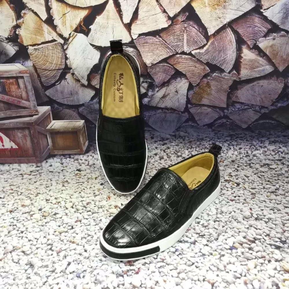 2018 Genuine real genuine crocodil belly skin men business shoe, top quality crocodile skin men shoe black belly skin men shoe