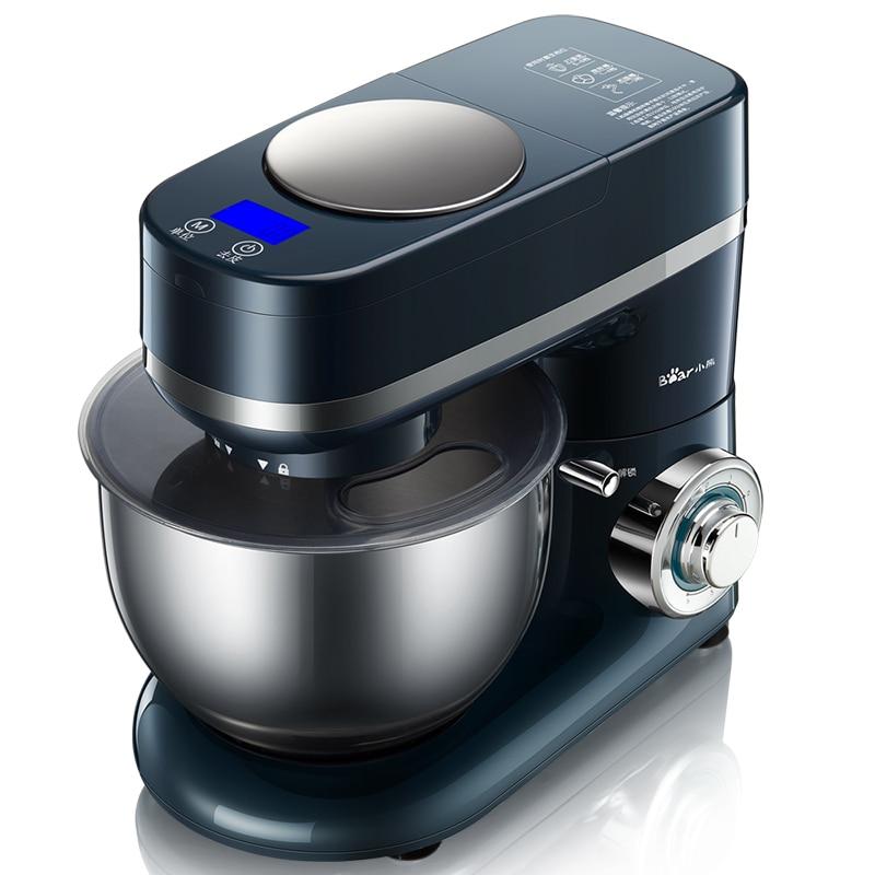 220 V électrique 4L multifonctionnel pâte mélangeur automatique 6 engins oeuf batteur cuisine Stand alimentaire mélangeur avec plaque de pondération EU/AU/UK