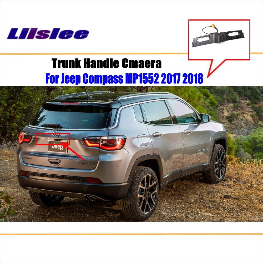 Otomobiller ve Motosikletler'ten Araç Kamerası'de Araba ters ters park kamerası Jeep pusula için MP1552 2017 2018 2019 gövde kolu kamera HD CCD dikiz dikiz kamera title=