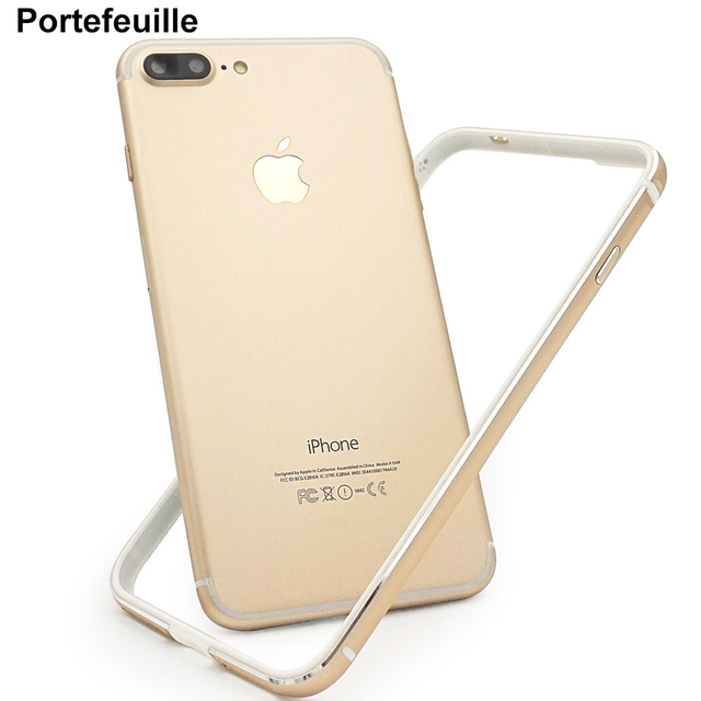 timeless design 824b8 64202 US $4.04 19% OFF|Portefeuille For iPhone 8 Bumper Case Aluminum TPU Hybrid  Shockproof Bumper Case for iPhone 7 Plus 6 6S 7plus Frame Accessories -in  ...