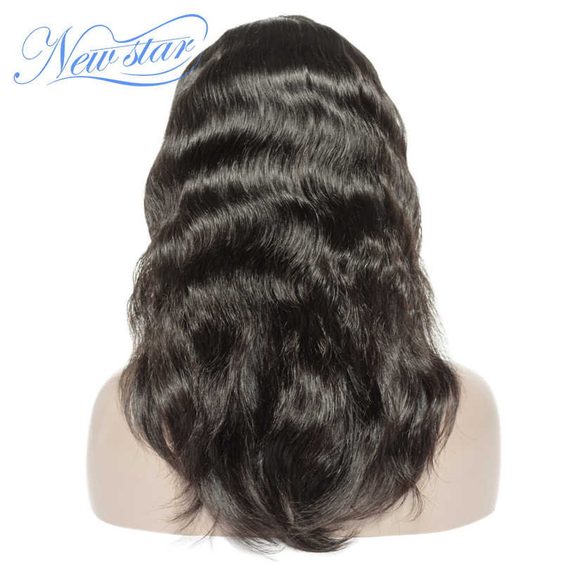 New Star lace front human hair wigs brazilian virgin body wave bundles with 13x6 middle part transparent lace frontal wigs