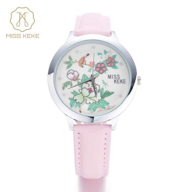 Miss Keke Bērnu pulkstenis 3D reljefs māla modes vienkāršs minimālisma kvarcs Skatīties radošas gilrs Rokas pulksteņi Karikatūra bērniem skatīties 20