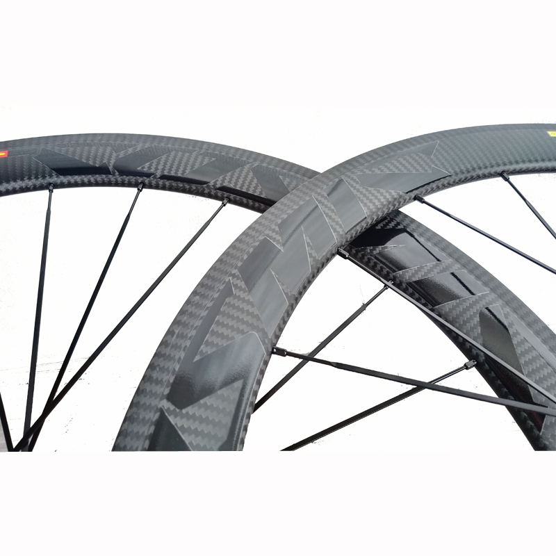 cheap price 700c 38mm 50mm carbon road bike wheels 3k twill weave width 23mm COS decal