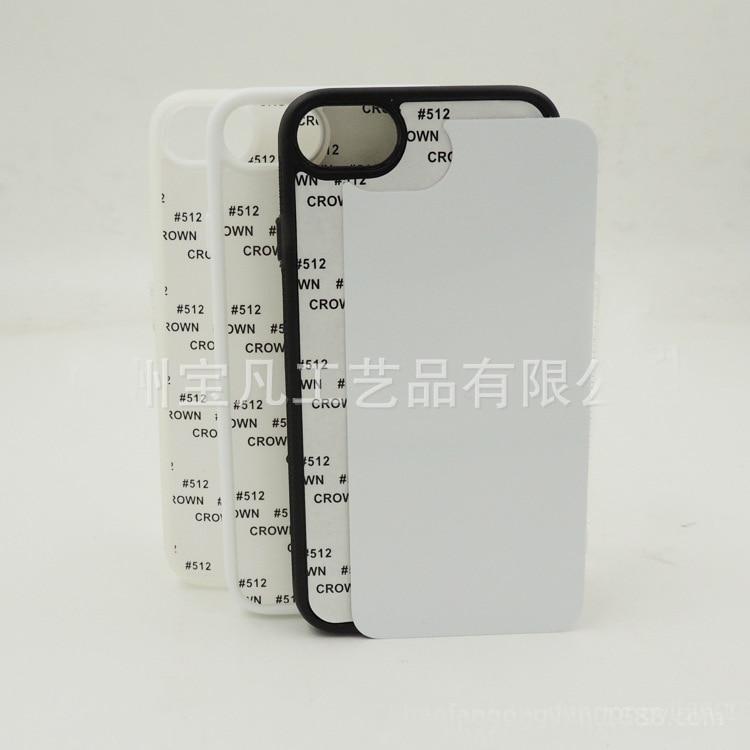 10 Teile/los Weiß Schwarz Transparent Blank 2d Sublimation Silizium Gummi Tpu Pc Fall Für Iphone 7/8 Mit Aluminium Einsätze Kleber