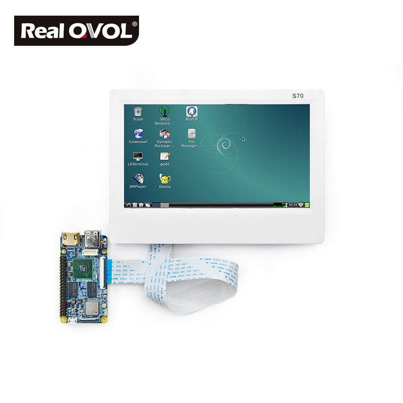 FriendlyARM S70 , 7inch Touch Screen Resistance Touch Display , For TINY6410 MINI6410 TINY210 MINI210S friendlyarm gprs gsm module rs232 serial interface for tiny6410 mini6410 tiny210 tiny4412 super4412 for development board