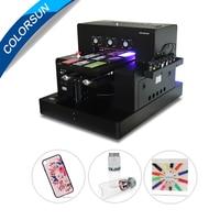 Colorsun Новая автоматическая A3 УФ светодиодный принтер (280*500 мм) для чехол для телефона цилиндрическая древесина печати стекла с CE с RIP 9,0 програ