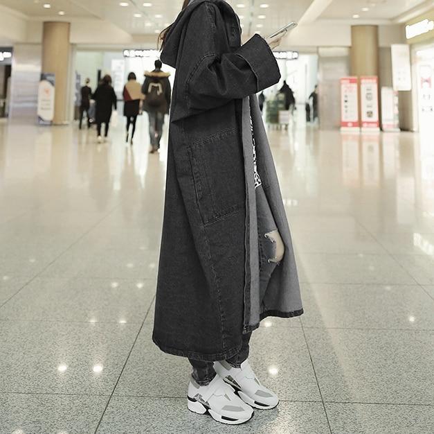 Sur Manches Femmes Long Jupe À Manteau Bleu blue Chaqueta Épaisseur Pleines Moyen Genou Black Solide Poches Capuche Streetwear qzjMGLUVSp