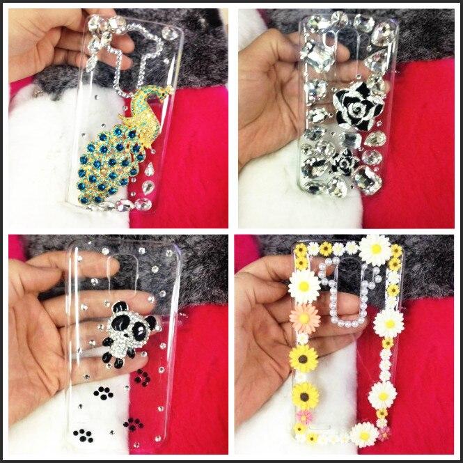 BotexBling DIY rhinestone panda peacock daisy transparent hard case for LG G5 G6 V10 V20 G4 h818 Beat G4s G5 H868 K7 K8 K10 case