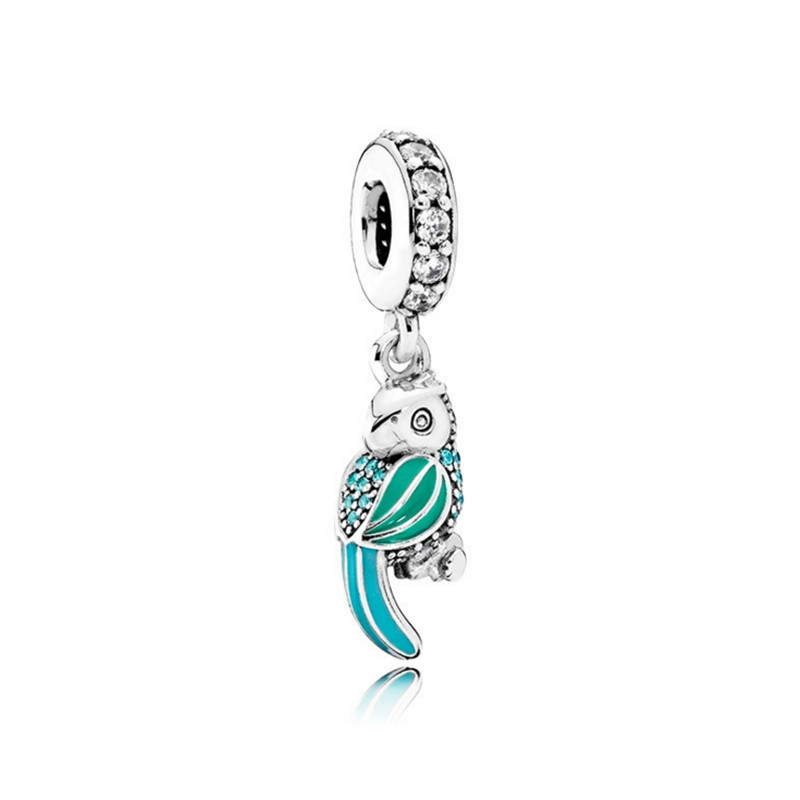 New Tropical Parrot DIY Wedding Jewelry Charms Beads Fit