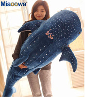 1pc 100cm Big Size Blue Shark Plush Toys Big Fish Cloth doll Whale stuffed plush animals doll Children Birthday Gift