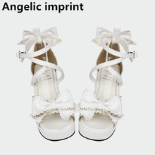 Summer Sandals Wedges Cosplay-Shoes Angelic Imprint High-Heels Lolita Women Pumps Lady