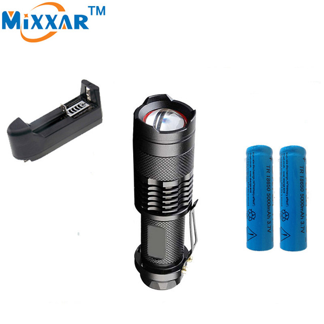 zk50 3500LM CREE XM-L2 led lanterna 5-mode LED light Adjustable led Flashlight  Waterproof Torch+2*18650 5000mAh Battery+Charger