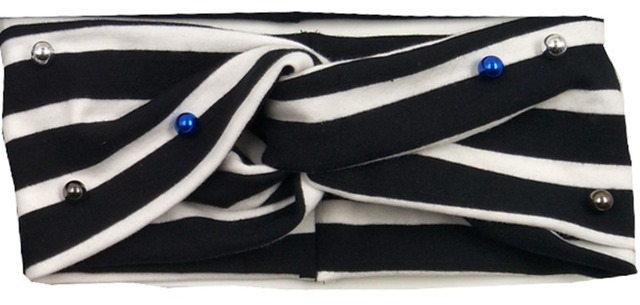 3bb9985051dce US $8.82 10% OFF|T17629 2017Newest set fashion white and black stripe  turban headbands hair fascinators yoga crystal head band headband for  women-in ...