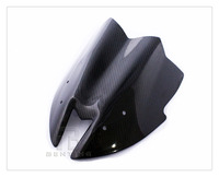 Motorcycle Black Carbon Fibre Front Windshield Windscreen For Kawasaki Z800 Z 800 2013 2016 14 15