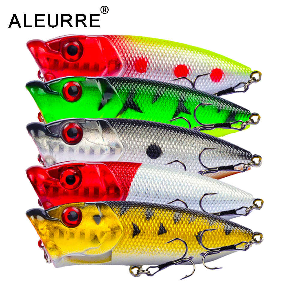7cm/11g Topwater Bait Popper Lures vibrating Small Whopper Hard Isca Artificial Weever Wobbler 3D Eyes Fishing Lure Pesca-in Fishing Lures from Sports & Entertainment