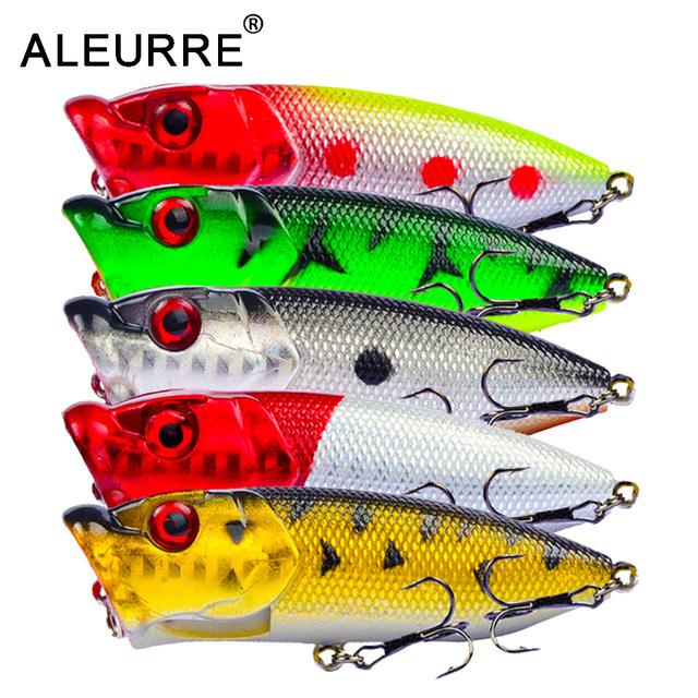 7cm/11g Topwater Bait Popper Lures vibrating Small Whopper Hard Isca Artificial Weever Wobbler 3D Eyes Fishing Lure Pesca