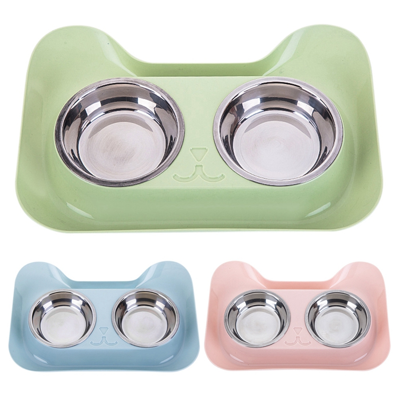 Cat Shape Stainless Steel Bowl Dog Feeder Drinking Bowls for Dogs Cats Pet Food Bowl Comedero Perro 3