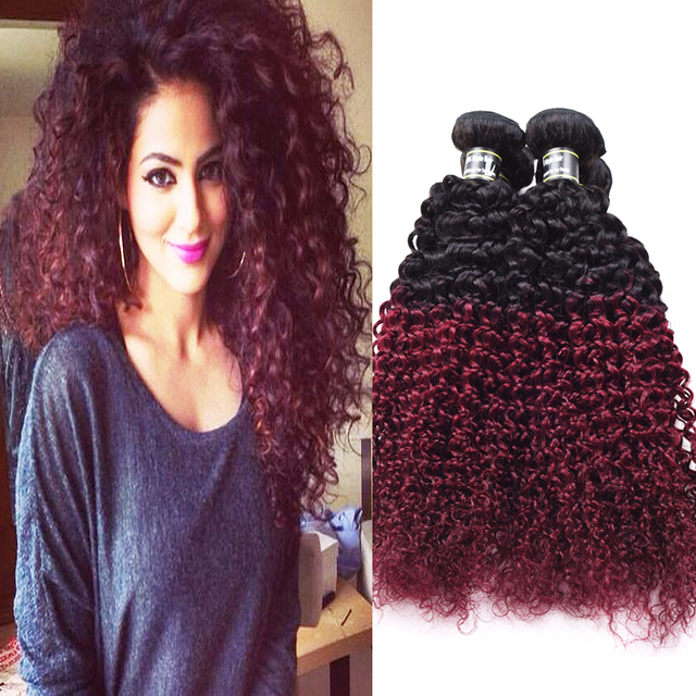 Peruvian ombre hair kinky curly virgin hair 1b99j human hair peruvian ombre hair kinky curly virgin hair 1b99j human hair extensions 4pcs ombre burgundy jerry curly pmusecretfo Image collections