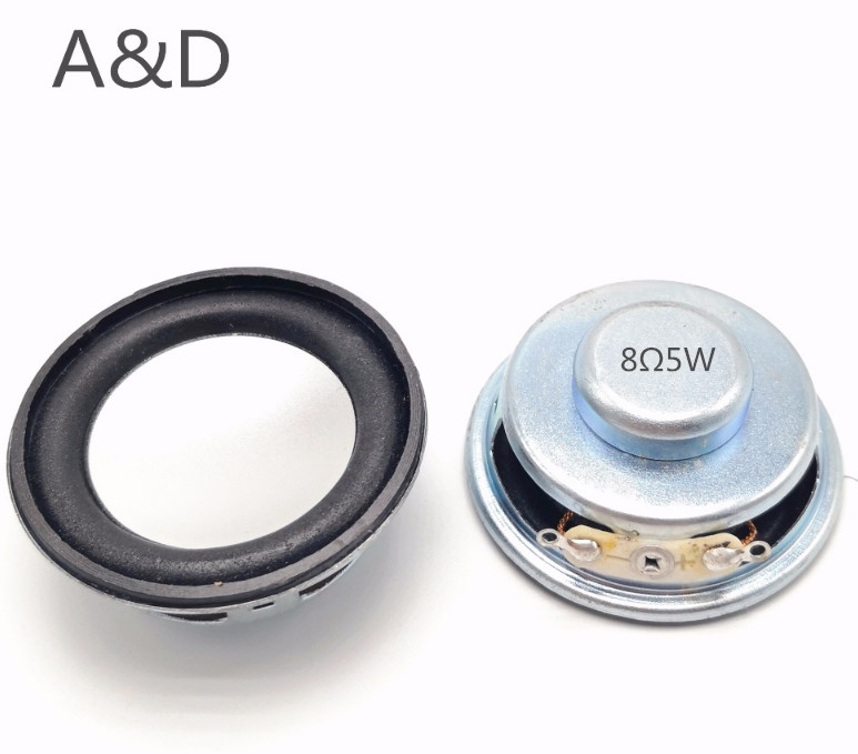2pcs Acoustic Loudspeaker 8 Ohm 5W 8R 50MM 5CM Speaker Internal Magnetic 13 Core 18MM Magnetic 18MM