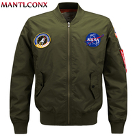 MANTLCONX Spring Pilot Bomber Jacket Men Bomber Flight Pilot Jacket Coat Flight Bomber Jacket Men Baseball Coat Plus Size M 6XL