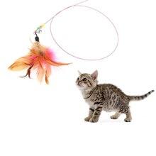 Игрушка для домашних животных, горячий, милый дизайн, пластик, стальная проволока, палочка-Дразнилка с перьями, игрушка для кошек Интерактивная, товары для домашних животных, 90 см