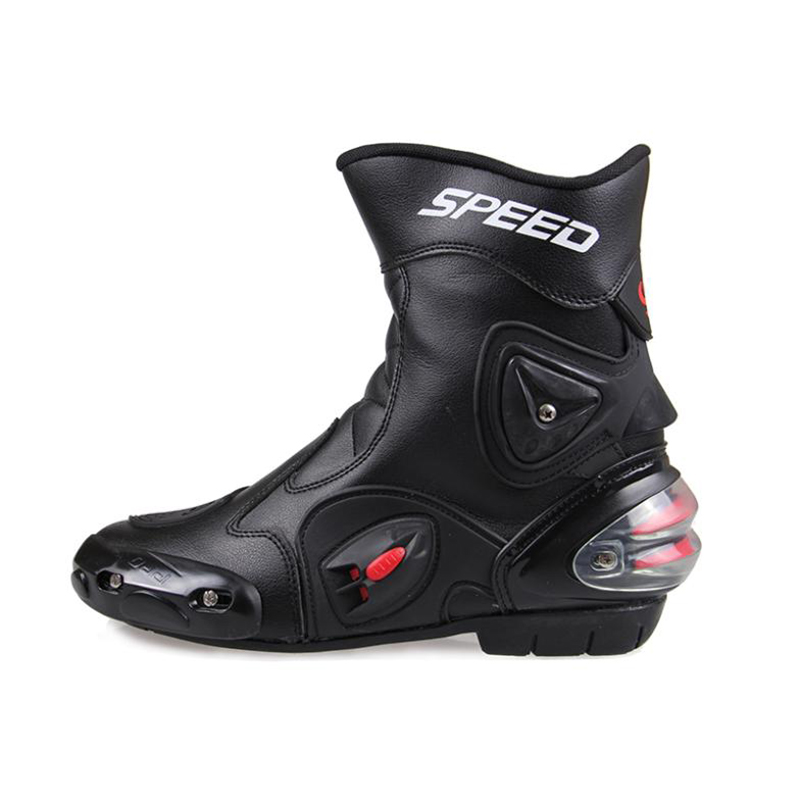 NEW Shoes Motorbike Boot Red White Black Drop Resistance Pro-Biker Microfiber Leather Racing Boots Football shoes
