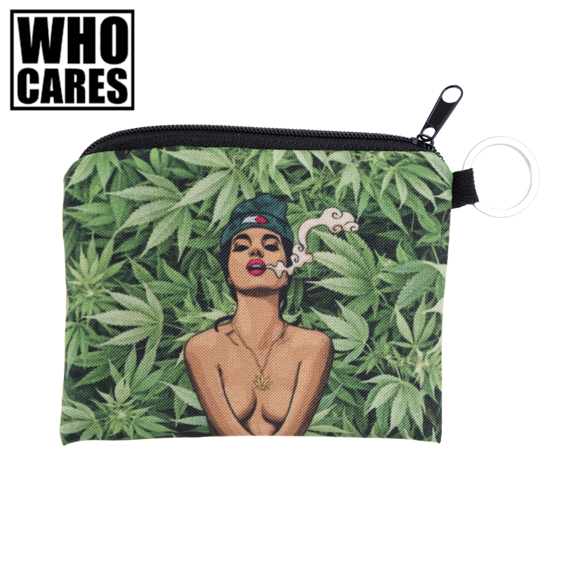 Green Weed Lady Prints Mini Square Coin Purse Wallet 3d Women Purse Porte Monnaie Femme Cute Small Zipper Pouch Girl Keys Bags rose diary new fresh pool party cute silicone zipper bags zero wallet child girl boy purse lady women coin wallets pouch case