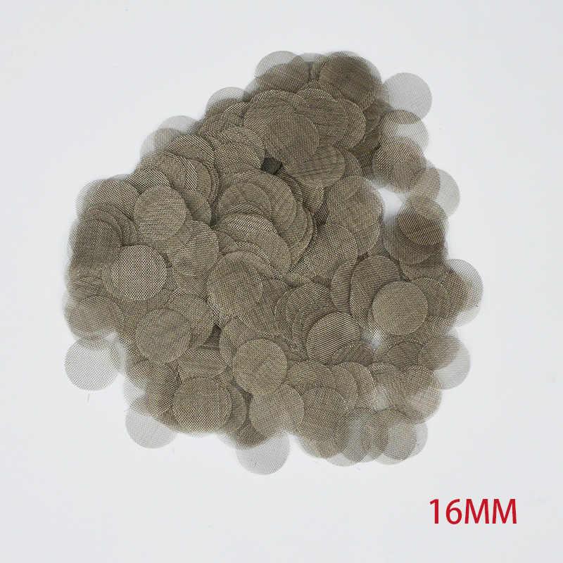 50 個 100 個タバコ喫煙金属フィルター煙パイプ画面ガーゼ肥厚多機能水ギセル水パイプステンレス鋼