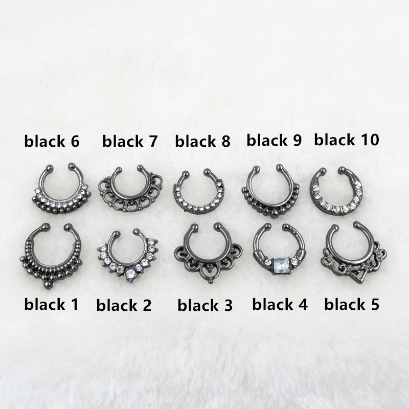 HTB1wsvbPVXXXXbkXpXXq6xXFXXXB Trendy Women Black Alloy Clicker Septum Nose Ring Jewelry - 10 Styles
