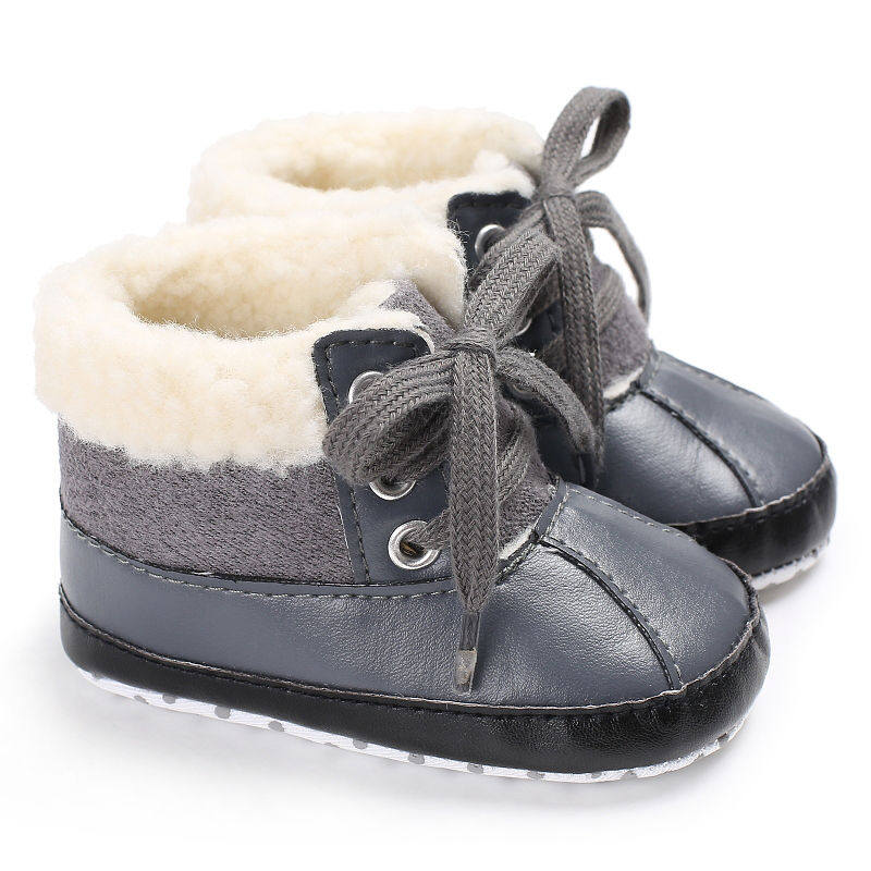 Baby Shoes Kids Winter Boots Girls Boys Newborn First Walkers Super Keep Warm PU Leather Fleece Snowfield Lace-Up Booty Shoes alfa alfa vetro white 20517 потолочный светильник