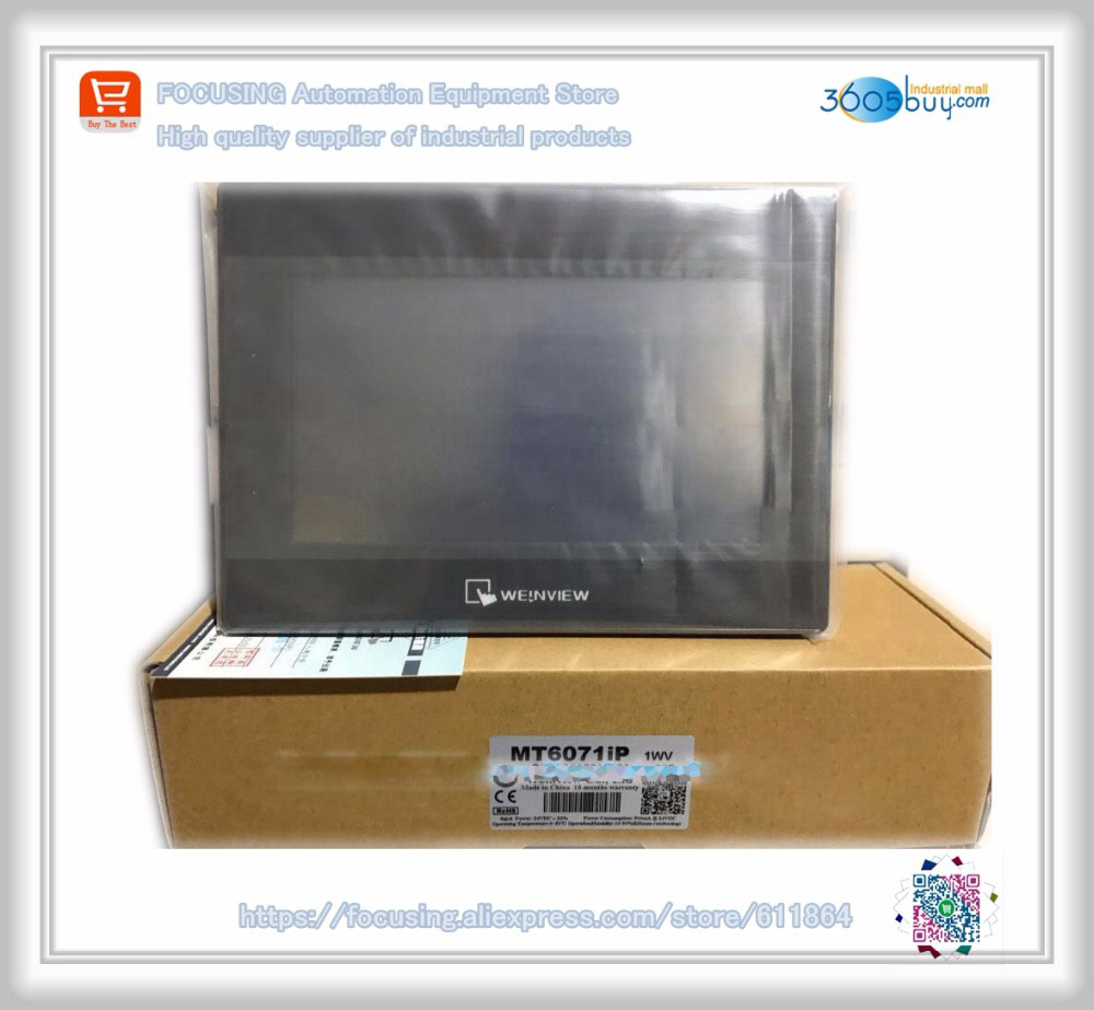 Original new boxed MT6071iP New 7 inch Weinview Weintek HMI 7 inch Full Replace MT6070IH5 With