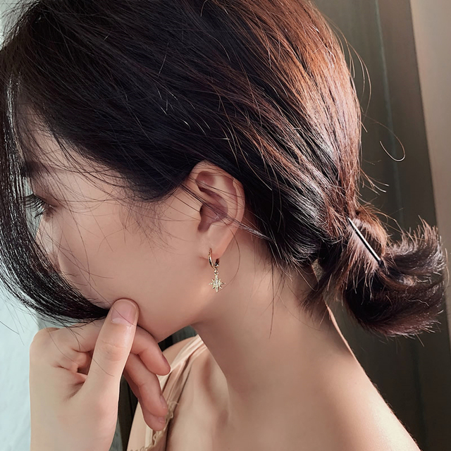 Dominated new 2019 personality asymmetric crystal Star fashion Drop earrings Delicate joker Moon style Women earrings.jpg 640x640 - Dominated new 2019 personality asymmetric crystal Star fashion Drop earrings Delicate joker Moon style Women earrings Jewelry