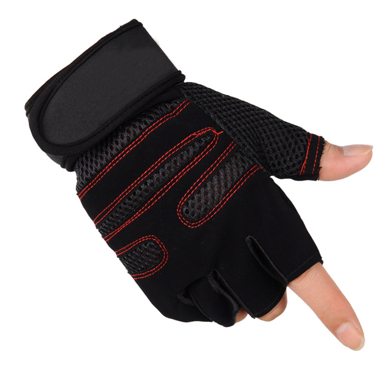 Elastic Gym Gloves Heavyweight Sports Exercise Weight Lifting Gloves Body Building Training Sport Fitness Gloves