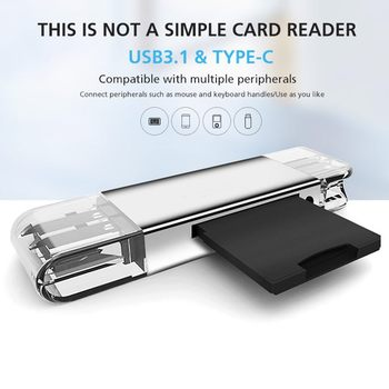 In 1 Metal USB 3.0 Card Reader High Speed SD TF Micro SD Card Reader Memory OTG Type C Card Reader Micro USB SD Adapter All
