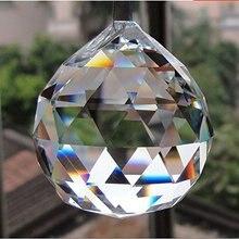 1 шт 30 мм стеклянный Многогранный хрустальный шар для люстры подвесной светильник шар DIY аксессуары