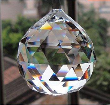 1 sztuka 30mm szklana fasetowana kryształowa kula do żyrandola do zawieszenia żarówka DIY akcesoria tanie i dobre opinie Moanamoore Kryształowy żyrandol