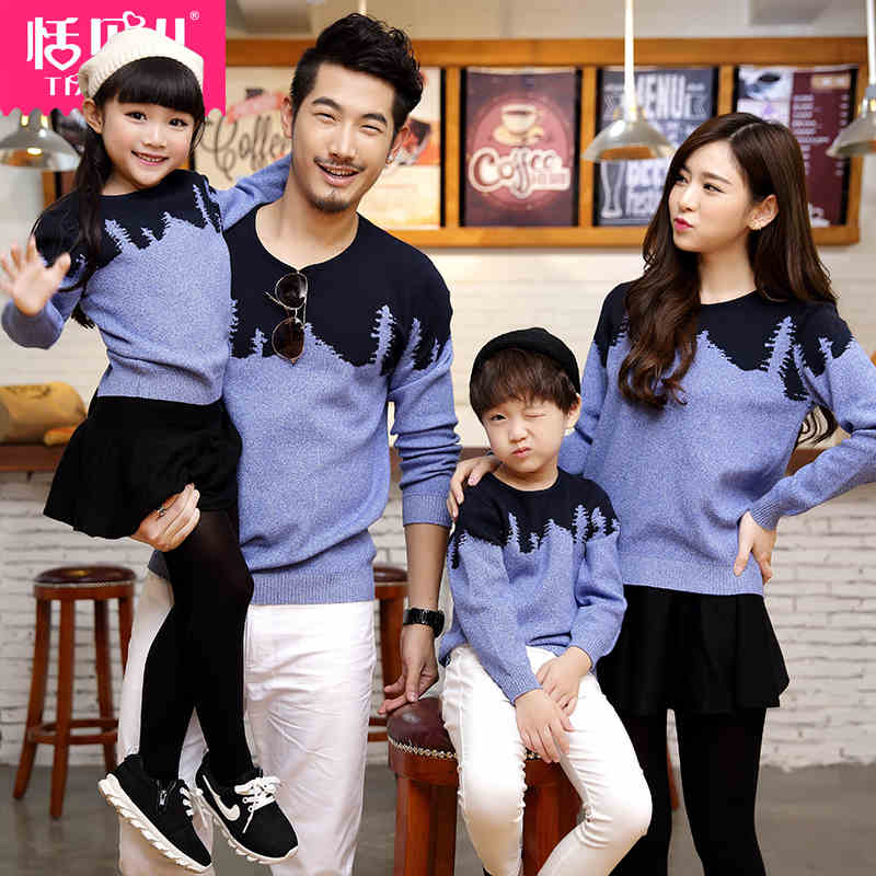 Matching Family Clothes 2015 Autumn Style Sweater Family Look Matching Mother Father Daughter Son Long Sleeve Sweater Clothing 2017 autumn winter cotton long sleeves girl mom women children sweater family look matching clothes mother and daughter sweaters