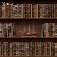 Yeele Vinyl Old Wood Bookshelf Book Children Birthday Party photograph Backdrop Wedding Photocall Background Photo Studio